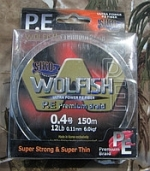 CIKO Шнур Siko Wolfish P. E Premium Braid 150m 0. 11mm 12LB