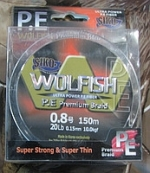 CIKO Шнур Siko Wolfish P. E Premium Braid 150m 0. 15mm 20LB